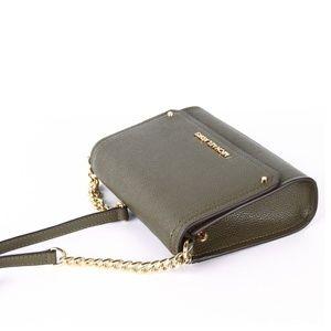 ebf5fa94e523 Michael Kors Bags - Michael Kors Hayes Small Convertible Clutch Olive